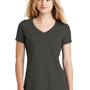 New Era Womens Heritage Short Sleeve V-Neck T-Shirt - Graphite Grey
