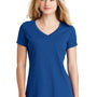 New Era Womens Heritage Short Sleeve V-Neck T-Shirt - Royal Blue