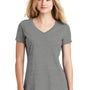 New Era Womens Heritage Short Sleeve V-Neck T-Shirt - Heather Shadow Grey