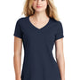 New Era Womens Heritage Short Sleeve V-Neck T-Shirt - Navy Blue