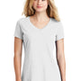 New Era Womens Heritage Short Sleeve V-Neck T-Shirt - White