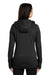 New Era LNEA522 Womens Venue Moisture Wicking Fleece Full Zip Hooded Sweatshirt Hoodie Black Back