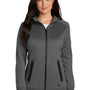New Era Womens Venue Moisture Wicking Fleece Full Zip Hooded Sweatshirt Hoodie - Graphite Grey