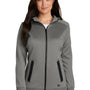 New Era Womens Venue Moisture Wicking Fleece Full Zip Hooded Sweatshirt Hoodie - Shadow Grey