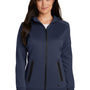 New Era Womens Venue Moisture Wicking Fleece Full Zip Hooded Sweatshirt Hoodie - Navy Blue