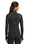 Ogio LOE335 Womens Endurance Nexus Moisture Wicking 1/4 Zip Sweatshirt Black Back