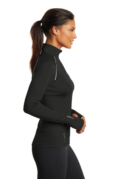 Ogio LOE335 Womens Endurance Nexus Moisture Wicking 1/4 Zip Sweatshirt Black Side