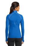 Ogio LOE335 Womens Endurance Nexus Moisture Wicking 1/4 Zip Sweatshirt Electric Blue Back