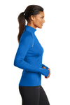 Ogio LOE335 Womens Endurance Nexus Moisture Wicking 1/4 Zip Sweatshirt Electric Blue Side
