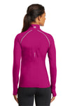 Ogio LOE335 Womens Endurance Nexus Moisture Wicking 1/4 Zip Sweatshirt Flush Pink Back