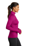 Ogio LOE335 Womens Endurance Nexus Moisture Wicking 1/4 Zip Sweatshirt Flush Pink Side