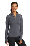 Ogio LOE335 Womens Endurance Nexus Moisture Wicking 1/4 Zip Sweatshirt Gear Grey Front