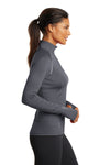Ogio LOE335 Womens Endurance Nexus Moisture Wicking 1/4 Zip Sweatshirt Gear Grey Side