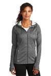 Ogio LOE501 Womens Endurance Pursuit Full Zip Hooded Sweatshirt Hoodie Diesel Grey Front