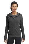 Ogio LOE502 Womens Endurance Cadmium French Terry Full Zip Hooded Jacket Black Front