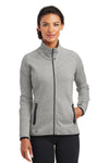 Ogio LOE503 Womens Endurance Origin Moisture Wicking Full Zip Jacket Aluminum Grey Front