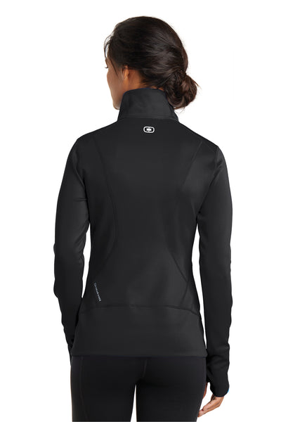 Ogio LOE700 Womens Endurance Fulcrum Full Zip Jacket Black Back