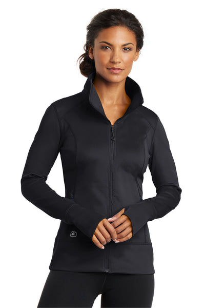 Ogio LOE700 Womens Endurance Fulcrum Full Zip Jacket Black Front