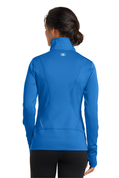 Ogio LOE700 Womens Endurance Fulcrum Full Zip Jacket Electric Blue Back