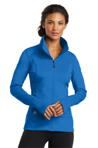 Ogio LOE700 Womens Endurance Fulcrum Full Zip Jacket Electric Blue Front