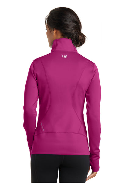 Ogio LOE700 Womens Endurance Fulcrum Full Zip Jacket Fuchsia Pink Back