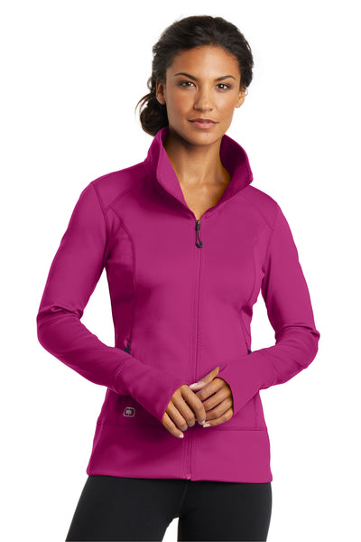 Ogio LOE700 Womens Endurance Fulcrum Full Zip Jacket Fuchsia Pink Front