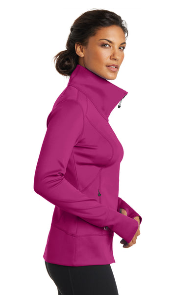 Ogio LOE700 Womens Endurance Fulcrum Full Zip Jacket Fuchsia Pink Side