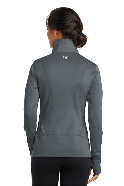 Ogio LOE700 Womens Endurance Fulcrum Full Zip Jacket Gear Grey Back