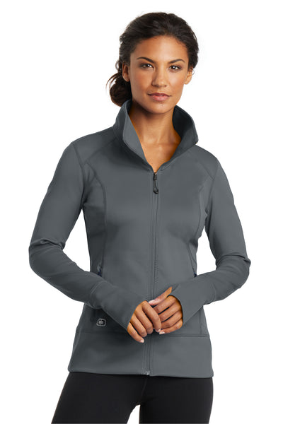 Ogio LOE700 Womens Endurance Fulcrum Full Zip Jacket Gear Grey Front