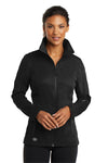 Ogio LOE720 Womens Endurance Crux Wind & Water Resistant Full Zip Jacket Black Front
