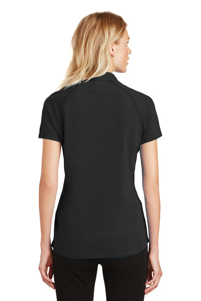 Ogio LOG126 Womens Onyx Moisture Wicking Short Sleeve Polo Shirt Black Back