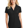 Ogio Womens Onyx Moisture Wicking Short Sleeve Polo Shirt - Blacktop
