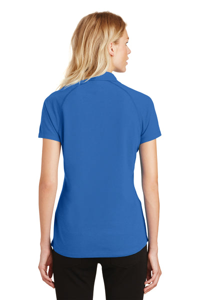 Ogio LOG126 Womens Onyx Moisture Wicking Short Sleeve Polo Shirt Electric Blue Back