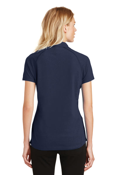 Ogio LOG126 Womens Onyx Moisture Wicking Short Sleeve Polo Shirt Navy Blue Back