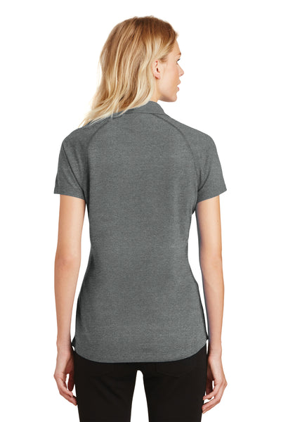 Ogio LOG126 Womens Onyx Moisture Wicking Short Sleeve Polo Shirt Petrol Grey Back
