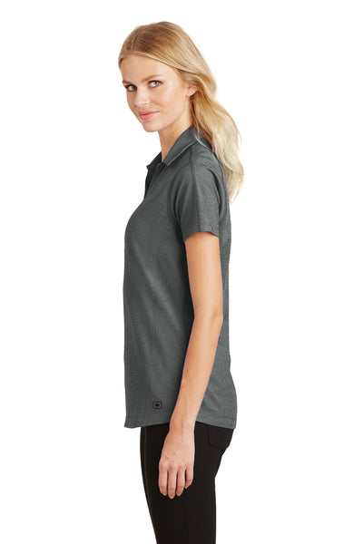 Ogio LOG126 Womens Onyx Moisture Wicking Short Sleeve Polo Shirt Petrol Grey Side