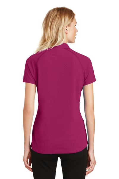 Ogio LOG126 Womens Onyx Moisture Wicking Short Sleeve Polo Shirt Fuchsia Pink Back