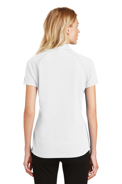 Ogio LOG126 Womens Onyx Moisture Wicking Short Sleeve Polo Shirt White Back