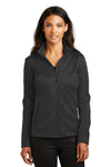 Ogio LOG2010 Womens Torque II Wind & Water Resistant 1/4 Zip Jacket Black Front