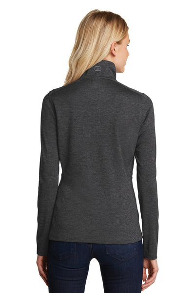 Ogio LOG203 Womens Pixel Moisture Wicking Full Zip Sweatshirt Black Back