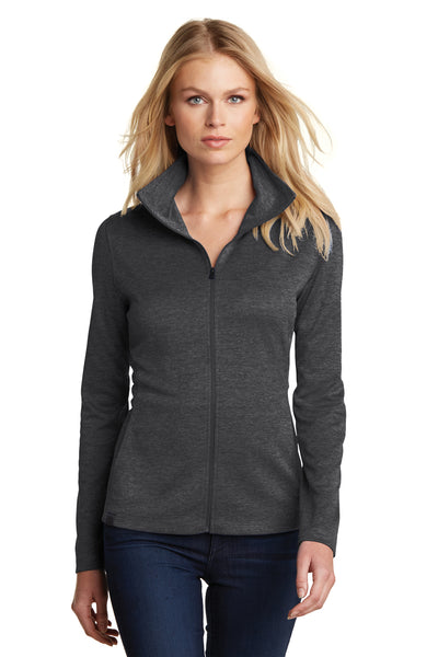 Ogio LOG203 Womens Pixel Moisture Wicking Full Zip Sweatshirt Black Front