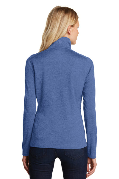 Ogio LOG203 Womens Pixel Moisture Wicking Full Zip Sweatshirt Blue Back