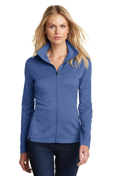 Ogio LOG203 Womens Pixel Moisture Wicking Full Zip Sweatshirt Blue Front