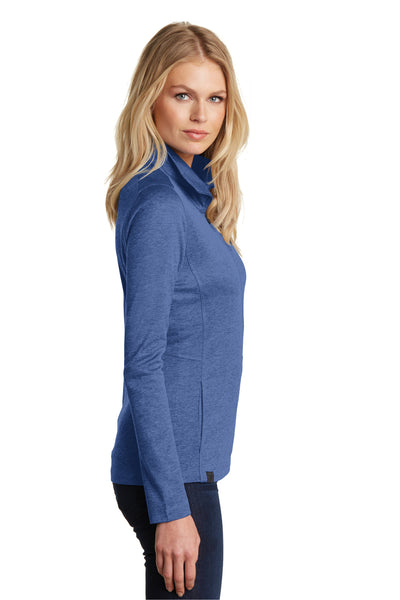 Ogio LOG203 Womens Pixel Moisture Wicking Full Zip Sweatshirt Blue Side