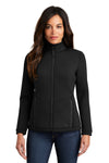 Ogio LOG724 Womens Axis Full Zip Jacket Black Front