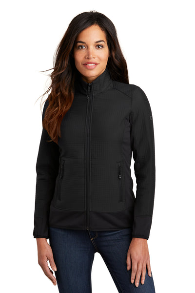 Ogio LOG726 Womens Trax Full Zip Jacket Black Front