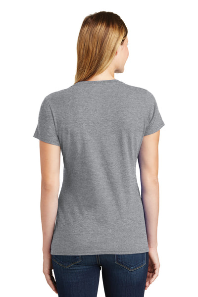 Port & Company LPC450 Womens Fan Favorite Short Sleeve Crewneck T-Shirt Heather Grey Back