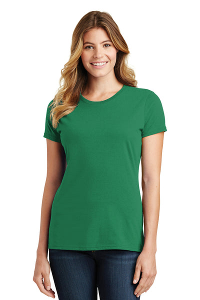 Port & Company LPC450 Womens Fan Favorite Short Sleeve Crewneck T-Shirt Kelly Green Front