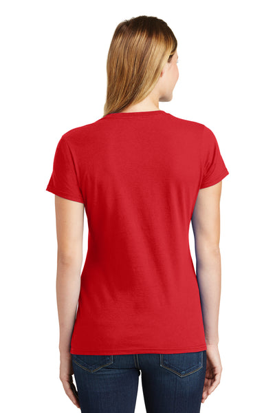 Port & Company LPC450 Womens Fan Favorite Short Sleeve Crewneck T-Shirt Red Back