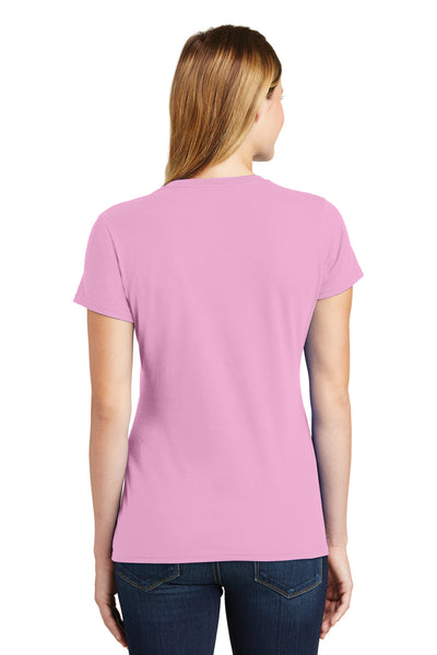 Port & Company LPC450 Womens Fan Favorite Short Sleeve Crewneck T-Shirt Candy Pink Back